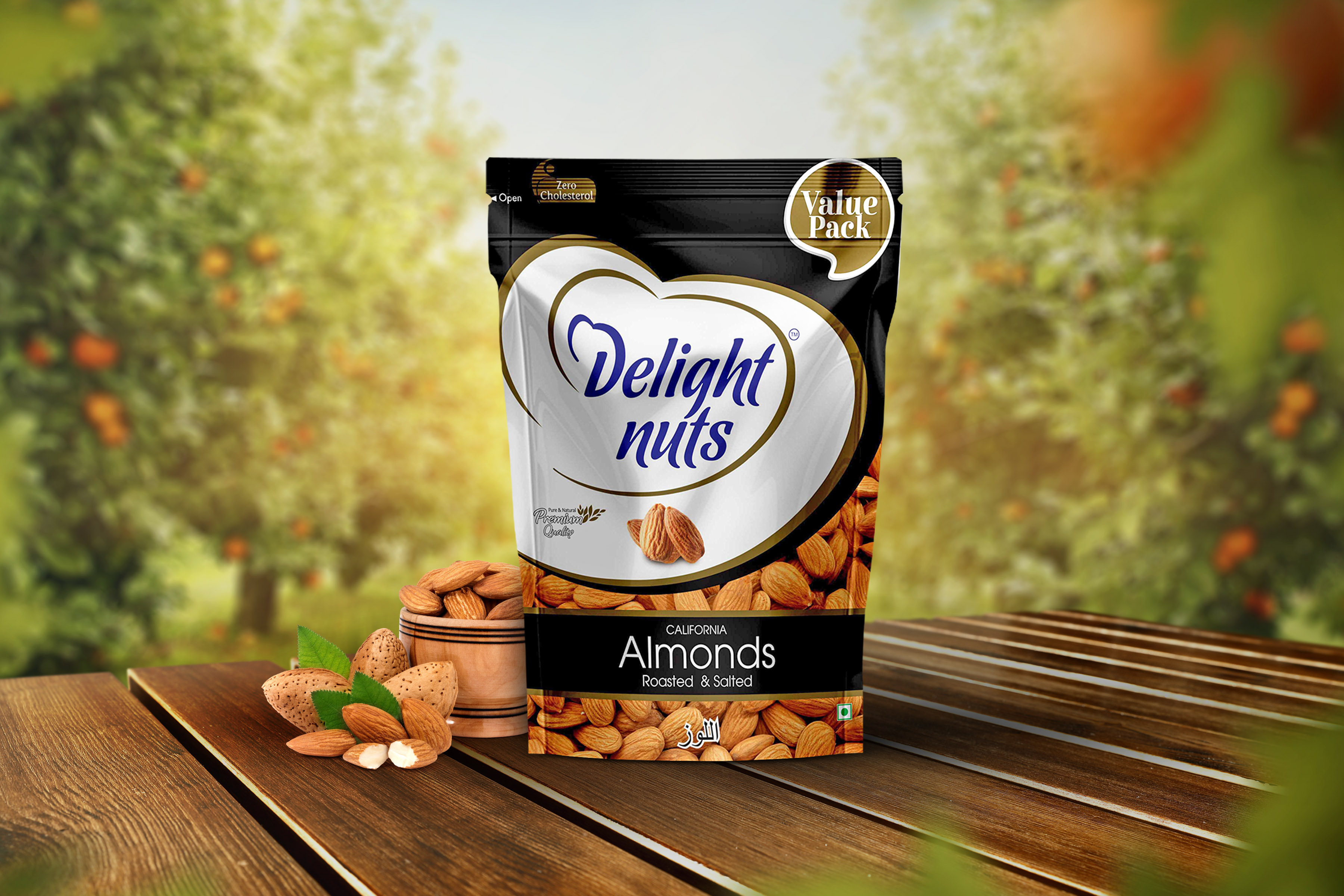 Delight Nuts - California Almonds - Roasted and Salted