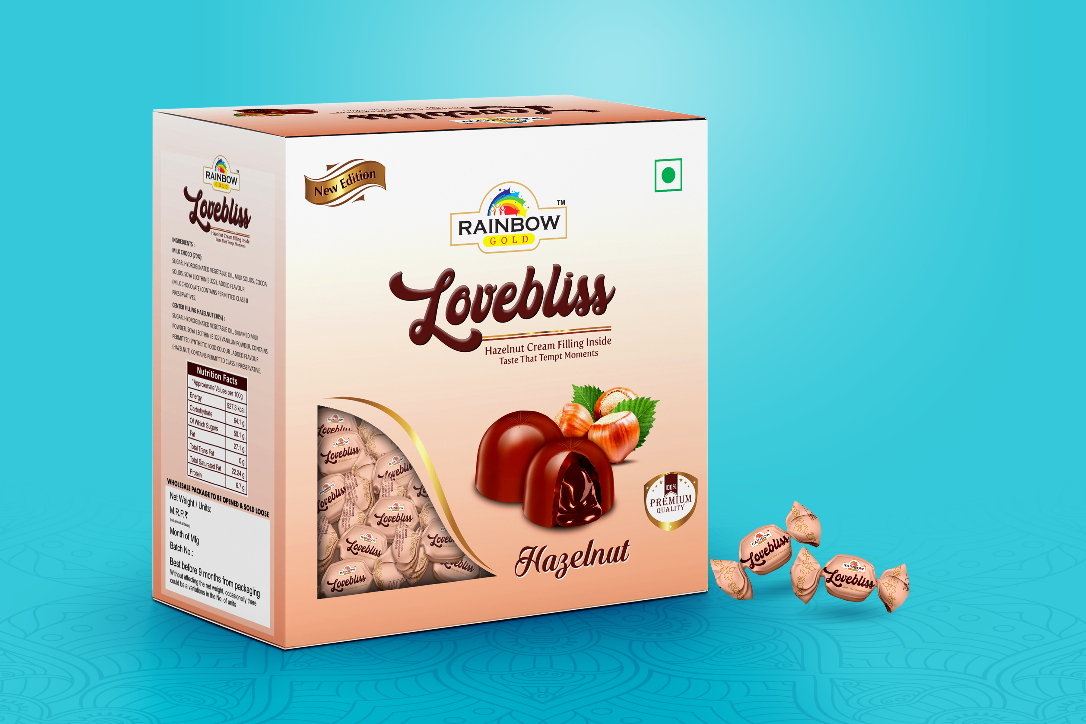 Rainbow Gold – Lovebliss Hazelnut